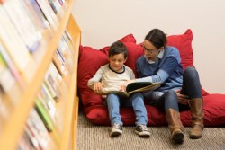 Reading in the Learning Center