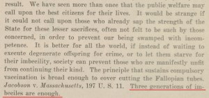 Excerpt from Buck v. Bell
