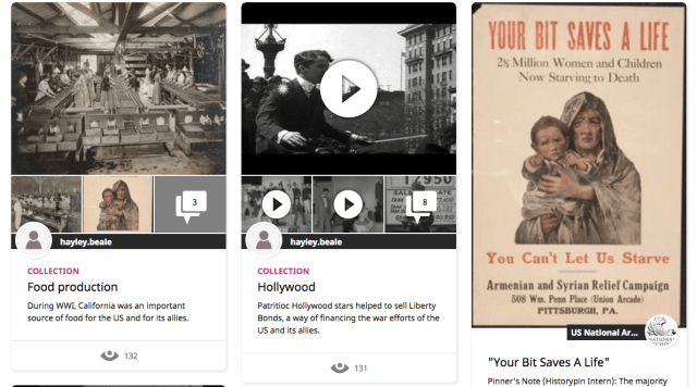 Collections on Historypin