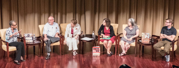 Author panel on stage