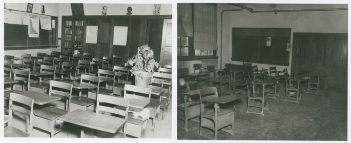 Classrooms in Moton and Worsham high schools