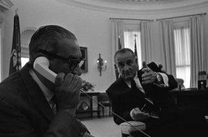 President Lyndon B. Johnson Meeting with Thurgood Marshall