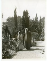 Mrs. Pratima Tagore Conversing with her Father-in-Law Rabindranath Tagore in the Garden of Cap Martin