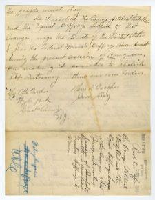 Letter from the Orange Political Study Club to Senator Joseph Frelinghoysen, page 2
