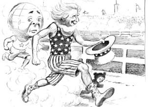 The Winner political cartoon