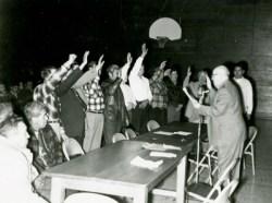 People taking an oath