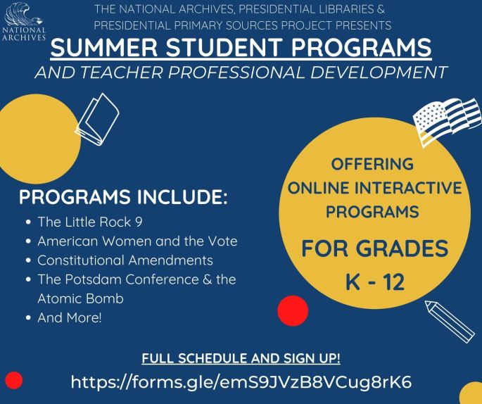 Summer Student Programs And Teacher Professional Development