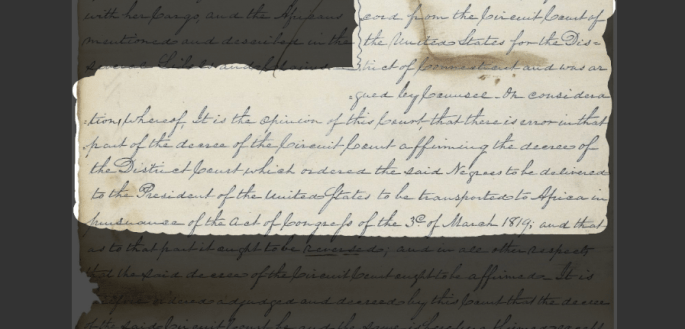 Document from the Amistad court case
