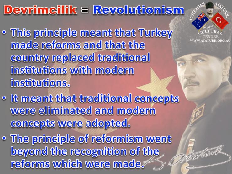 AAKM - Ataturk Principles and Reforms - 8 Revolutionism
