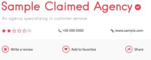 Checkmark on listing page.