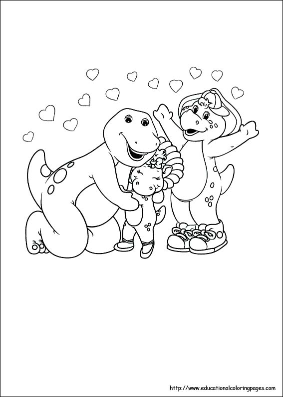 barney coloring pages educational fun kids coloring pages and