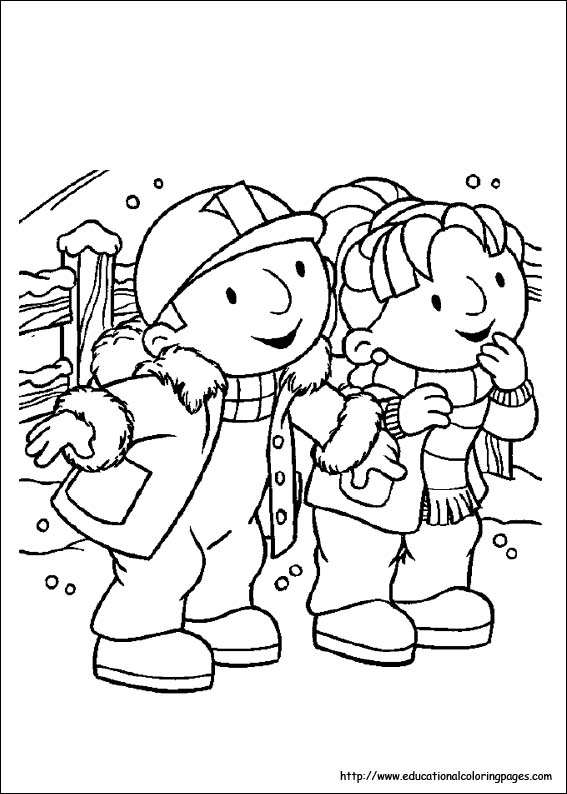 Bob The Builder Coloring Pages Educational Fun Kids