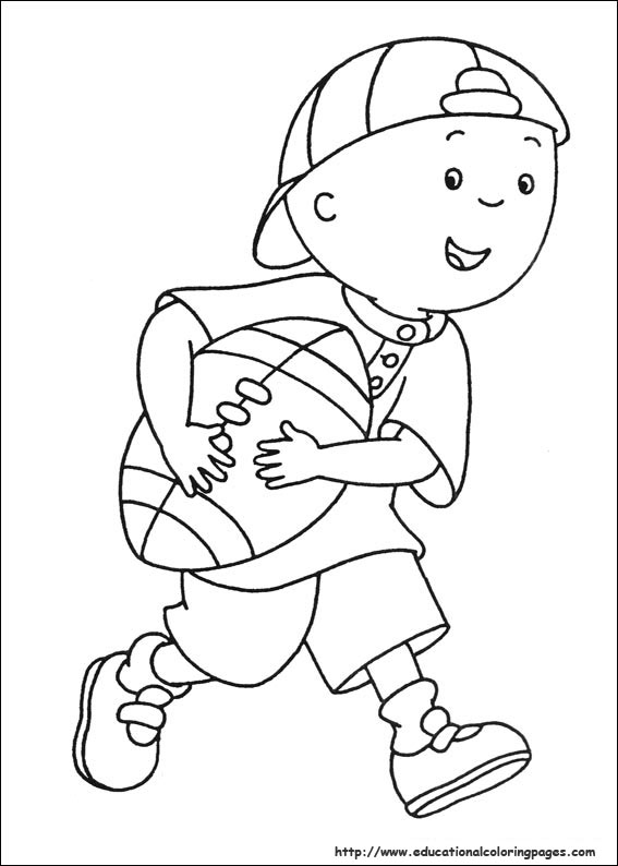 Caillou Coloring Pages Educational Fun Kids Coloring