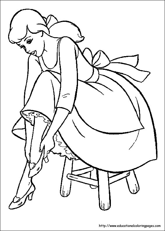 cinderella coloring pages free for kids