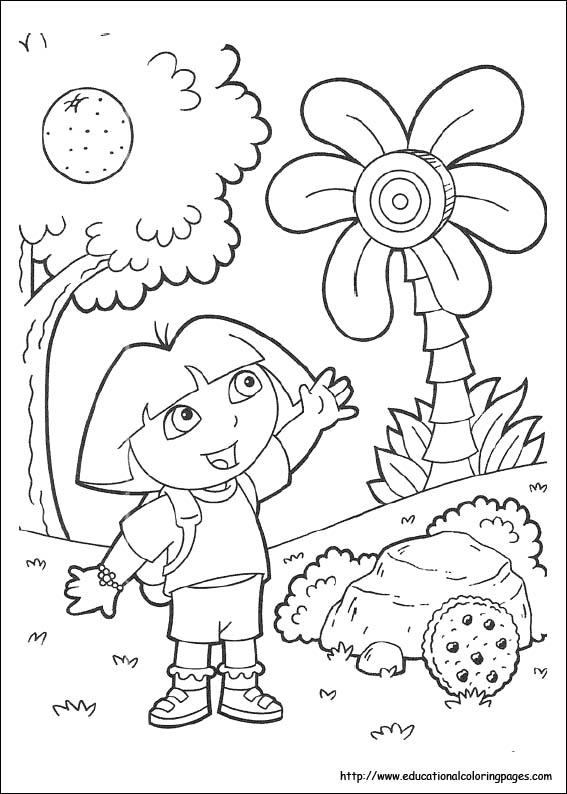 dora coloring pages printable # 16