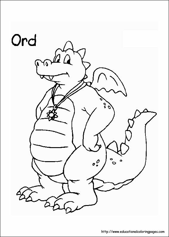 dragon tales coloring pages educational fun kids coloring pages