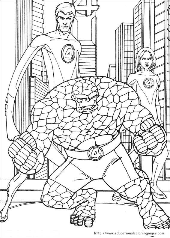 fantastic four coloring pages # 12