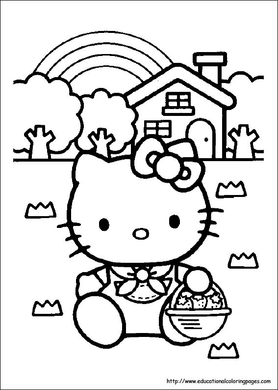 hello kitty coloring pages that you can print # 7