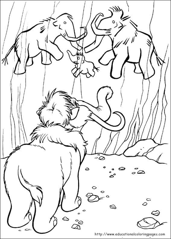 ice age educational fun kids coloring pages and preschool skills