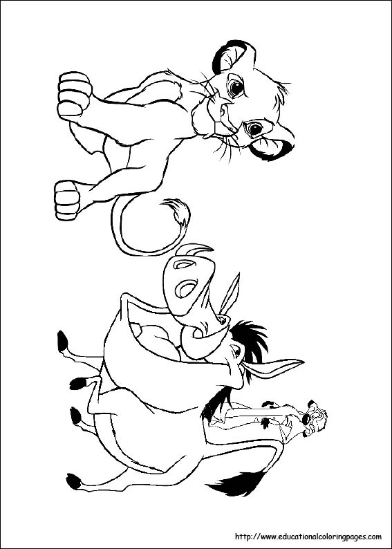 Lion King Coloring Educational Fun Kids Coloring Pages