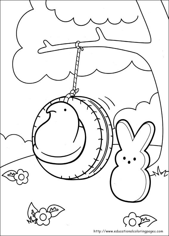 Peeps Coloring Pages Educational Fun Kids Coloring Pages