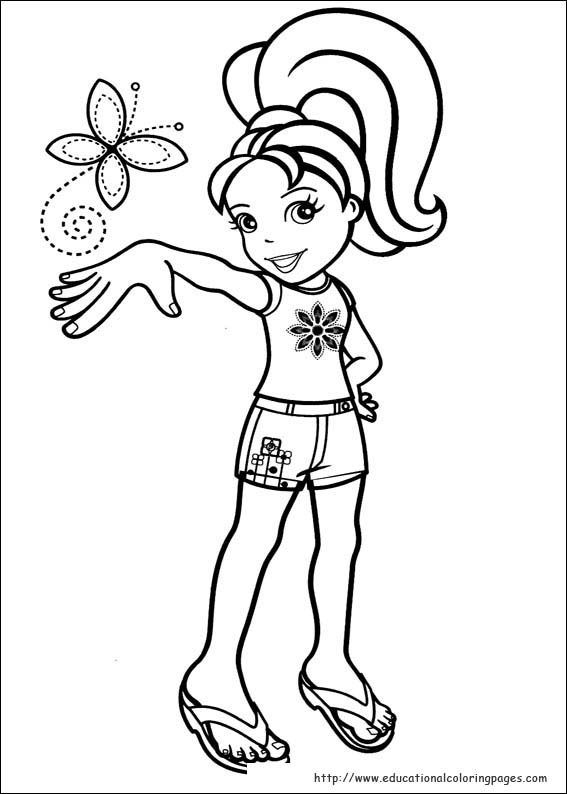 Polly Pocket Pages Educational Fun Kids Coloring Pages