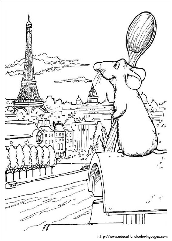 Ratatouille Coloring Pages Educational Fun Kids Coloring