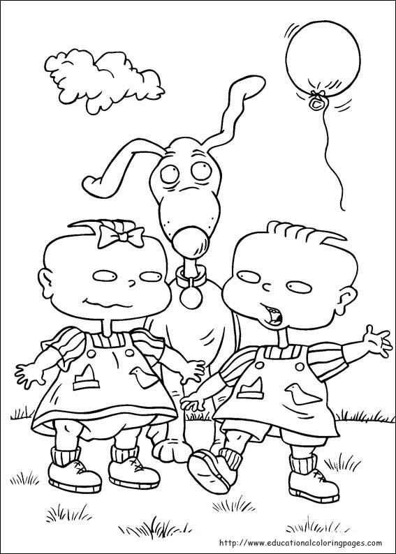 90s Cartoon Characters Coloring Pages