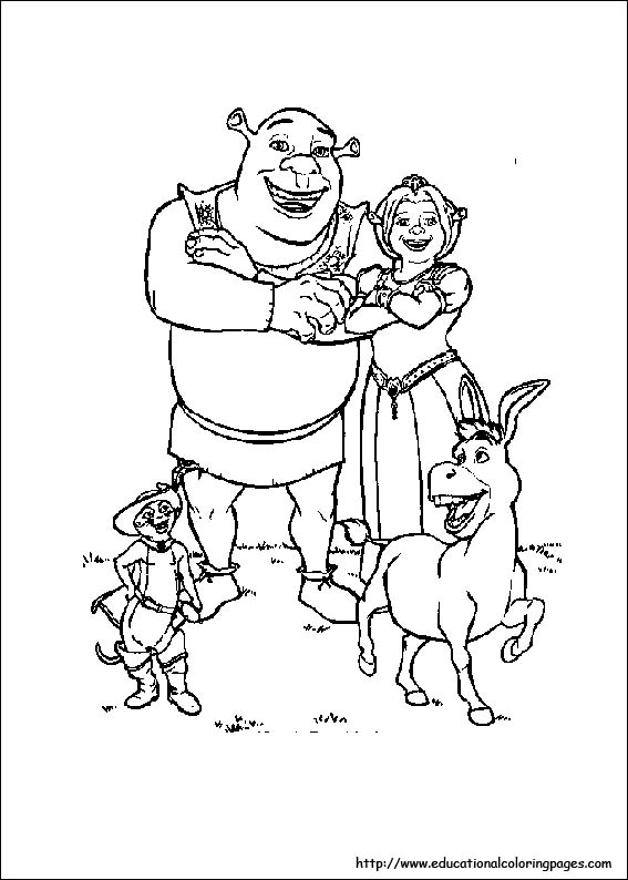 Shrek 3 Coloring Educational Fun Kids Coloring Pages And