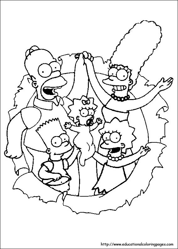 the simpsons coloring pages free for kids