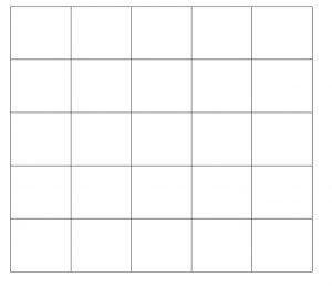 blank bingo grid