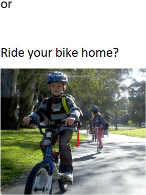 ride ur bike home
