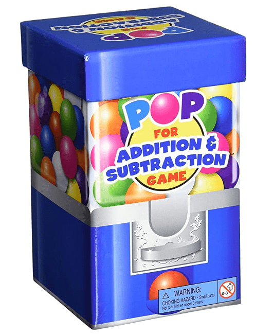 Pop addition and subtraction word game