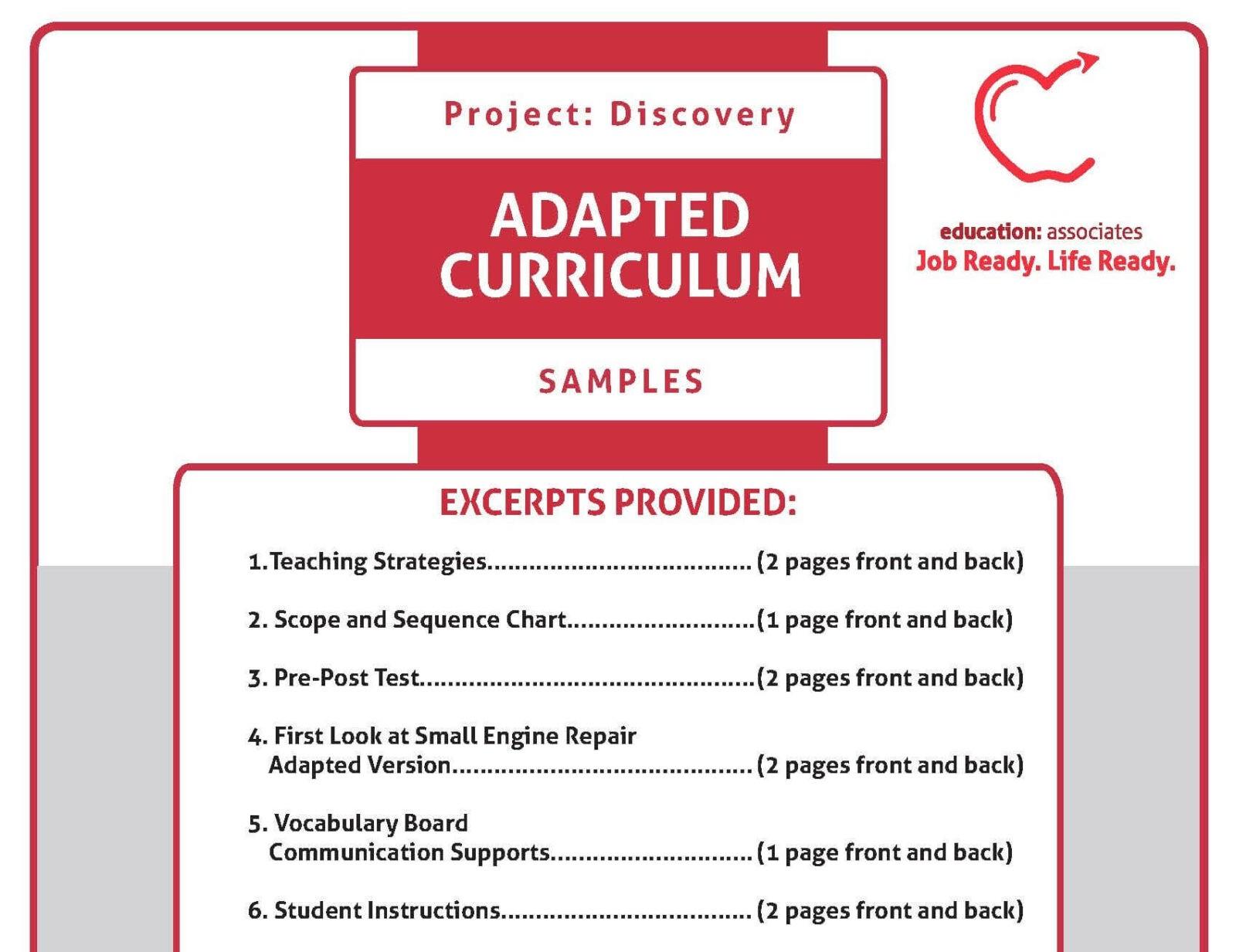 Curriculum Samples – Education Associates