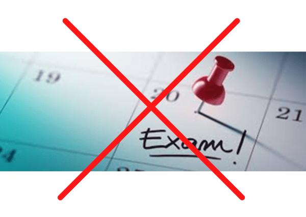 No exams