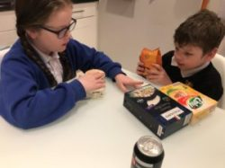 Photo of children sorting food