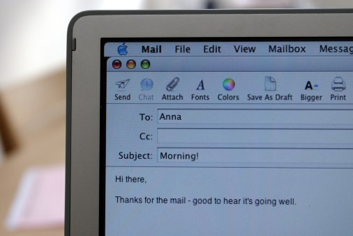 Top 5 transition tips for parents is to cover email etiquette at home.