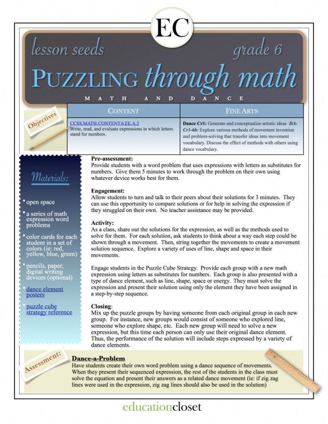 puzzling through math