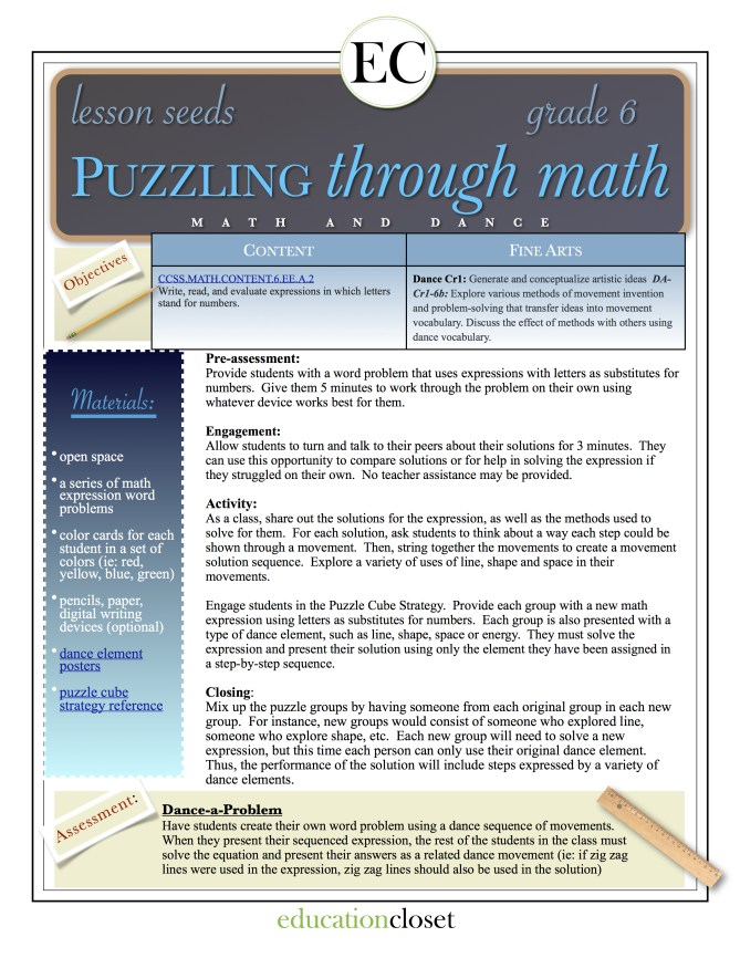 puzzling through math