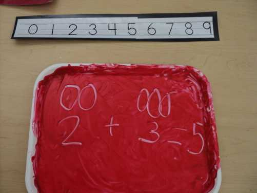 Finger paint math