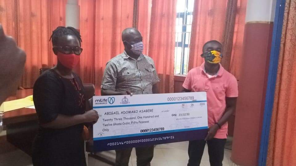 JUST IN: GNAT supports Female Teacher with Ghc23,112.50 Cashback Plan for her Permanent Disability 2