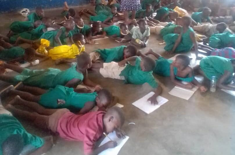 FCUBE : Lack of Furniture causes Learners of Saboba E.P Primary to study on bare floor