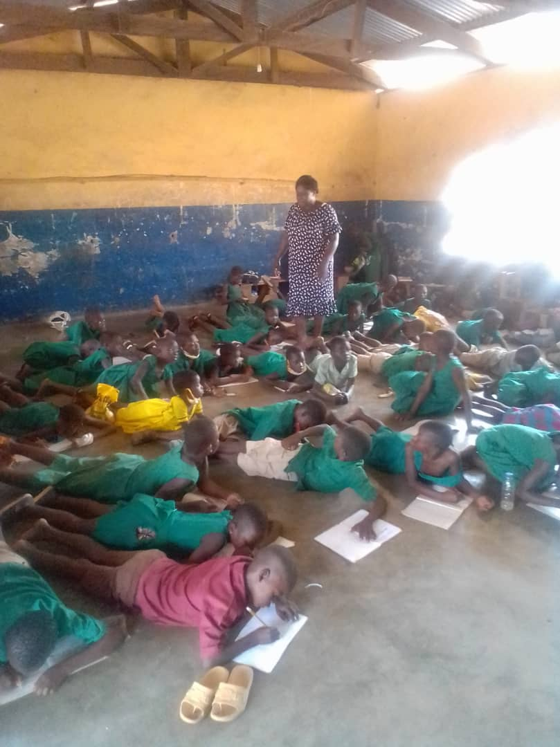 FCUBE : Lack of Furniture causes Learners of Saboba E.P Primary to study on bare floor 1