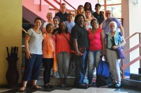 Group photo following Dr. Nidia Lescaille's presentation on the teaching of reading and writing in Cuba.