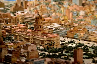 A snippet of the scale model of Havana.