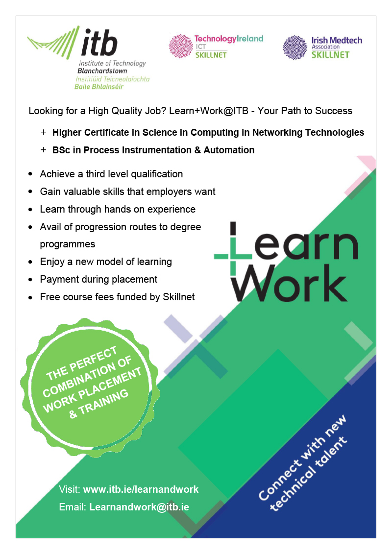 Learn & Work Advert