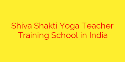 Shiva Shakti Yoga Teacher Training School in India