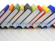 ADA Assistant Syllabus