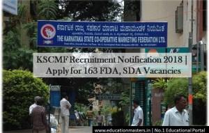 KSCMF Notification 2018