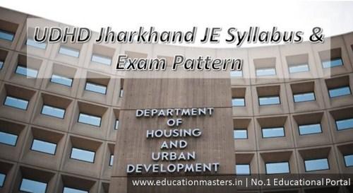 UDHD Jharkhand Syllabus 2018